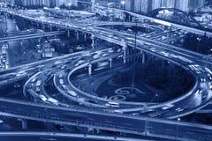 Traffico stradale del viadotto Immagine Stock