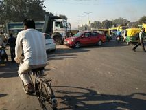 Traffico stradale dell'India Fotografie Stock Libere da Diritti