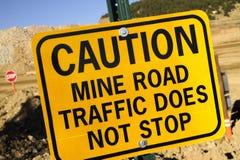Traffico stradale della miniera fotografia stock libera da diritti
