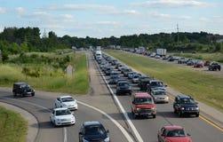 Traffico stradale vicino ad Ann Arbor, MI fotografia stock