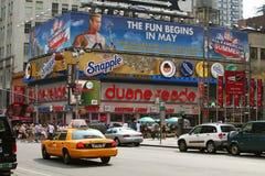 Traffico su Broadway Fotografia Stock