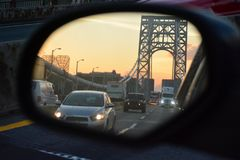 Traffico su George Washington Bridge immagine stock