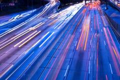 Traffico sul Harbor Freeway fotografie stock
