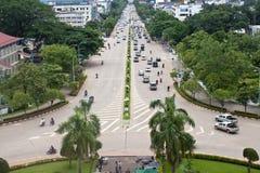 Traffico sul viale di Xang del vicolo Fotografia Stock