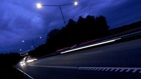 Traffico sull'autostrada senza pedaggio archivi video