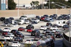 Traffico 405 sull'autostrada senza pedaggio Los Angeles Fotografia Stock Libera da Diritti