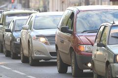 Traffico sulla strada Immagini Stock Libere da Diritti