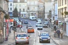 Traffico sulla strada della città Fotografie Stock Libere da Diritti