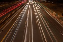 Traffico sulla strada principale a Bangkok, Tailandia Immagine Stock