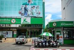 Traffico sulla via in Chiang Mai, Tailandia Immagini Stock Libere da Diritti