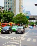 Traffico in Tailandia Fotografia Stock