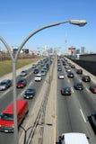 Traffico Toronto della superstrada Fotografie Stock Libere da Diritti