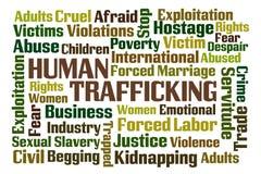 Traffico umano Fotografia Stock Libera da Diritti