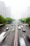 Traffico urbano di Pechino Immagine Stock Libera da Diritti
