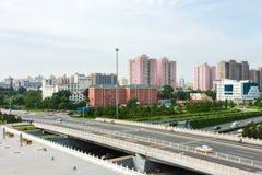 Traffico urbano di Pechino Fotografia Stock