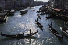 Traffico a Venezia Fotografia Stock Libera da Diritti