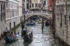 Traffico veneziano fotografia stock libera da diritti