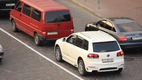 Trafficway. In Kiev, Ukraine stock video