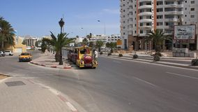 Trafficway. In Sousse, Tunisia stock video footage