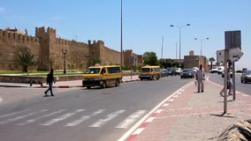 Trafficway. TUNISIA, SOUSSE, JULY 3, 2010: Trafficway in Sousse, Tunisia, July 3, 2010 stock footage