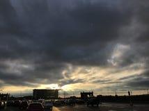 Trafford mitt arkivfoton