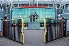 Trafford viejo es hogar del club del fútbol del Manchester United fotos de archivo libres de regalías