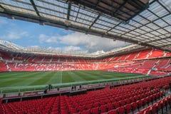 Trafford viejo es hogar del club del fútbol del Manchester United fotografía de archivo libre de regalías
