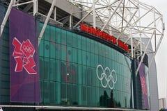 老Trafford,伦敦2012年。 库存照片