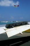 Trafic aérien en Maldives Images stock