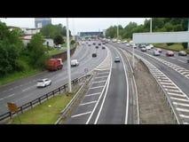 Trafic autoroutier Glasgow banque de vidéos
