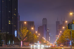 Trafic and car's light blur in the city Royalty Free Stock Photography