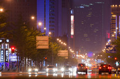 Trafic and car's light blur in the city Stock Photography