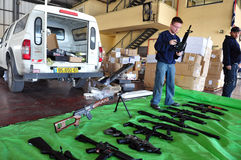 Trafic d'armes Photographie stock