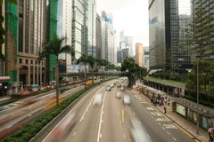 Trafic in Hongkong Wan Chai Stock Photography