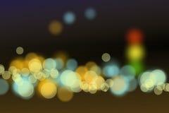 Trafic jam bokeh blur background Stock Image