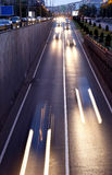 Trafic lights in the passage Royalty Free Stock Image