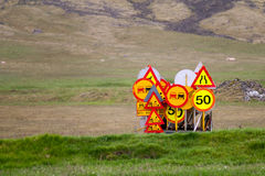 Trafic signs Stock Image