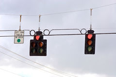 Trafic stoplight series red stop Royalty Free Stock Image