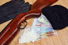 Traficante criminal del bandido de las cosas Imagen de archivo