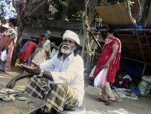 traficante indiano de peixes secos pequenos Imagens de Stock