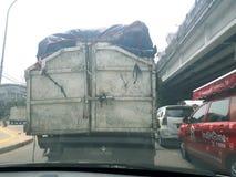 Truck. Traficlight in jakarta Stock Photography