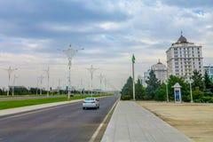 Trafik 01 Ashgabat för låg styrka royaltyfria bilder