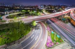 Trafik av den Seoul staden Fotografering för Bildbyråer