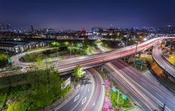 Trafik av den Seoul staden, Sydkorea Royaltyfri Bild