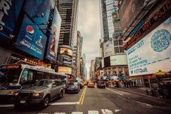 Trafik av Manhattan, New York City Arkivfoton