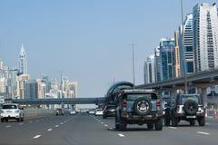 Trafik Dubai Arkivfoto