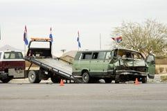 trafik för 5 olycka Arkivfoto