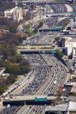 trafik för atlanta congetionmiddagar Arkivbild