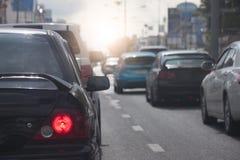 trafik för bildriftstoppväg Royaltyfria Bilder