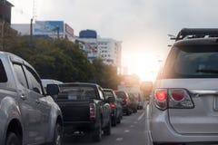 trafik för bildriftstoppväg Royaltyfri Bild